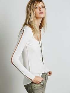 Intimately Treat Street Cashmere Henley at Free People Clothing Boutique