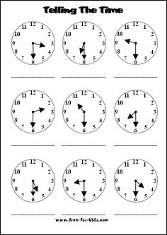 what time is it printable worksheet  kolbie  pinterest  its truly shocking how many middle schoolers cant tell time free  printable  learning to tell time