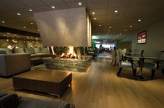 Beautiful fireplace and lobby at the Coeur d'Alene Resort!