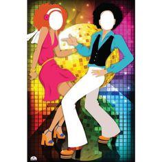 party Disco Theme Standin Cardboard Cutout 190 x Disco Theme Parties, Disco Party Decorations, 60s Party, Neon Party, Party Themes, Retro Halloween, Photo Cutout, Hippie Party, 80s Theme