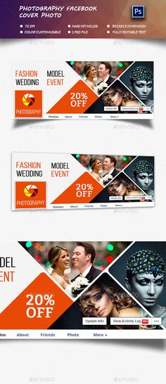 Photography Facebook Cover Photo Template PSD #design Download: http://graphicriver.net/item/photography-cover-photo/13310032?ref=ksioks