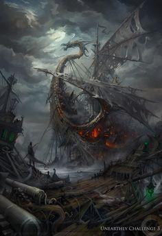 Lost ships by haryarti on deviantART. Living inside a shipwreck.