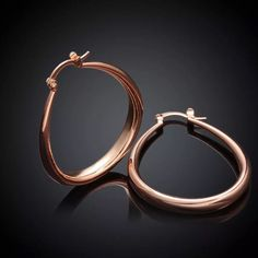 Rose  Gold Plated Teardrop Earrings