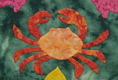 Crab hand applique