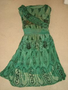 beautiful antique beaded 1920s dress