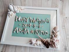 貝シリーズ!ウェルカムボードの新商品です。 の画像|ウェディングブーケ 花冠専門店 Chococosu ちょここす