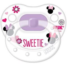 NUK Disney Minnie Mouse Silicone Orthodontic Pacifier, Set of 2, 0-6 Months, Multicolor