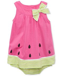 First Impressions Baby Girls' Watermelon Sunsuit, Only at Macy's - Shop All Baby - Kids & Baby - Macy's