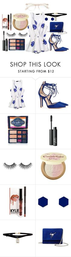 """Untitled #292"" by alreemaljassim ❤ liked on Polyvore featuring Gianvito Rossi, Too Faced Cosmetics, NARS Cosmetics, Huda Beauty, Wolf & Moon, ASOS, Giuseppe Zanotti and Oliver Peoples"
