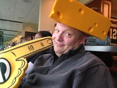 The big cheese! A great day at Lambeau Field for football! #KIredzone