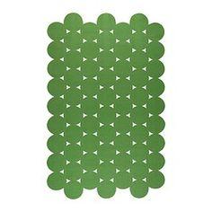 "IKEA PS 2012 rug, flatwoven, green Length: 9 ' 10 "" Width: 6 ' 1 "" Surface density: 4 oz/sq ft Length: 300 cm Width: 186 cm Surface density: 1320 g/m²"