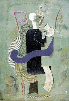 Picasso,Homme assis au verre, 1914