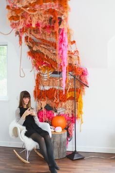 a cozy space // A Month of Nesting // Decorating the Studio for Fall — Treasures & Travels