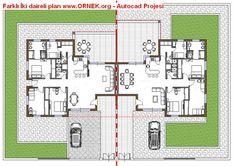 Farklı İki daireli plan