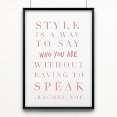 Be true to your style and what you like!