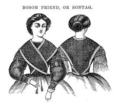 Bosom Friend or Sontag --- Original Pattern Taken from the January 1860 Godey's --- pattern translated by Colleen Formby, hosted at Ragged Soldier. Size small or medium.