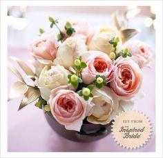 DIY, Do It Yourself, Wedding Centerpiece, Centerpiece, Flowers, Floral, arrangement