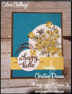 Stampin Up, Challenges, Create, Cards, Image, Color, Home Decor, Decoration Home, Room Decor