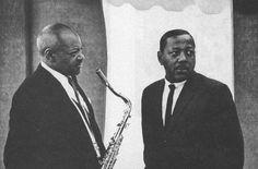 Coleman Hawkins and Roy Eldridge Roy Eldridge, Coleman Hawkins, Jazz Musicians, Jazz Blues, Legends, Classic, People, Photos, Black And White