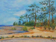 """Tableau """"Au bord du lac à Navarrosse"""" @Antoine Rose-axelle-bosler : Peintures par peintures-axelle-bosler"""