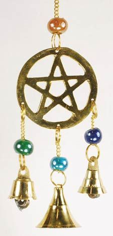 #pagan #wicca #witchcraft #celtic #druid #tarot Three Bell Pentagram Wind Chime $6.95
