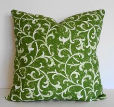 Green Decorative Pillow Cover Chartreuse Green by pillows4fun, $22.00