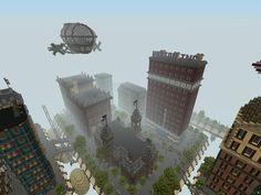 Columbia recreated in Minecraft #minecraft #bioshock