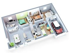low budget house luna top duo 100m2  #100m2 #budget #house My House Plans, Modern House Plans, Small House Plans, Low Budget House, Home Budget, Three Bedroom House Plan, 3 Bedroom House, Sims 4 House Building, Building Plans
