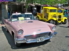1955 Thunderbird - and it is pink...does not get any better than that~