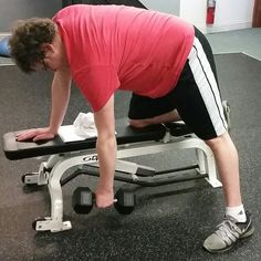 Enhance Fitness studio 11/8/15 strength and conditioning training. Dumbell rows with Mike!