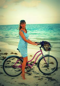 there's nothing better than #cycling in the #Caribbean | #beachcruiser in Puerto Morelos, #Mexico