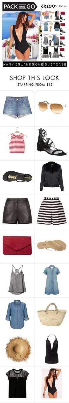 """PACK AND GO - MANY ISLANDS ONE SUITCASE"" by sohappytotravel ❤ liked on Polyvore featuring J Brand, Tom Ford, Stuart Weitzman, IPANEMA, Glamorous, BCBGMAXAZRIA, Reiss, Dorothy Perkins, Tkees and RVCA"