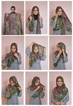 Wide square shawl