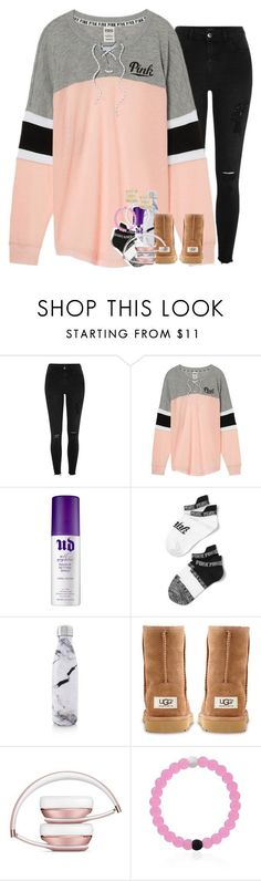 """when that highlight is poppin"" by ellaswiftie13 on Polyvore featuring River Island, Victoria's Secret, Urban Decay, S'well, UGG Australia and Kate Spade"