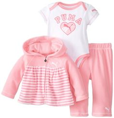 PUMA-Baby-Girls-Newborn-New-Born-3-Pack-Jacket-Pant-Set-Sachet-Pink-3-6-Months-0