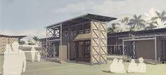 """Tendo como tema """"Abrigos de Emergência"""", o Concurso Estudantil Íbero-Americano de Arquitetura Bioclimática da IX BienalJosé Miguel Aroztegui..."""