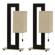 Decor Therapy Square Table Lamp - Set of 2 - MP1020