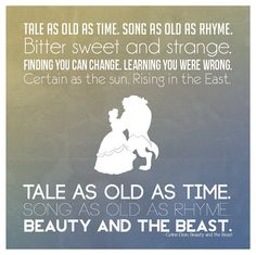 Beauty and the Beast Poster by PotentQuotes on Etsy, $12.00
