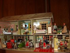 I had this dollhouse but it would have been great with these dolls and their own furniture --ideal petite princess display - Bing Images