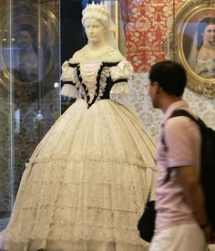 A replica was designed and made for the museme in Austria of one of Worth's original design of Empress Elizabeth coronation dress. This shows how Worths designs are still be represented in culture today and how great of an impact they had on society.