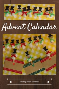 A fun homemade advent calendar so you can have fun activities and not just chocolate.