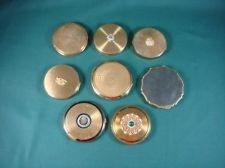 8 x VINTAGE Ladies Goldtone Compacts Including STRATTON *COLLECTABLE BARGAIN*