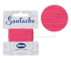 Cordon soutache 3mm deep pink ST1560 x 2.5m