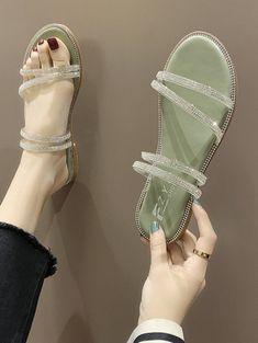 Cheap Sandals, Cheap Shoes, Flat Sandals, Women's Shoes Sandals, Top Casual, Hazel Green, Green Sandals, Comfortable Sandals, Trendy Shoes