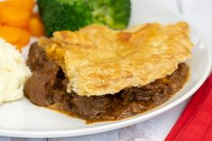 Scottish Steak Pie Recipe - Scottish Scran Scottish Steak Pie Recipe, Scottish Recipes, British Recipes, Slow Cooked Steak, Stewing Steak, Pie Recipes, Cooking Recipes, Beef Pies, Vegetable Puree