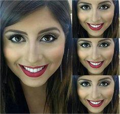 A @jessicazzi do Beauty Team da NYX Mooca fez uma daquelas maquiagens que são sucesso em qualquer clima e ocasião. Ela usou o Powder Blush Cinnamon, Slide On Pencil Jet Black, máscara de cílios Doll Eyes e Matte Lipstick Perfect Red