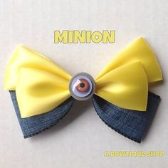 minion hair bow by abowtiqueshop on Etsy