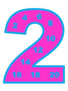 Multiplication table. Таблицата за умножение в магически цифри.