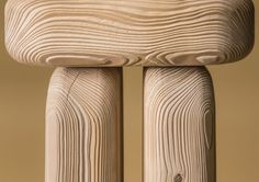 Dune Furniture Collection by Lisa Ertel - used a sandblasting technique on wood furniture to emphasise the patterns created by trees' annual rings of growth.