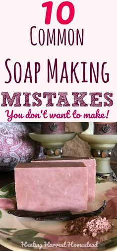 Soap Making Mistakes and Frequently Asked Questions: Making your own handmade soap is FUN! But it's easy to make mistakes when you first start out. Soap making errors can range from just wasting product to being down right dangerous. Find out the mos Soap Making Recipes, Homemade Soap Recipes, Homemade Paint, Homemade Cards, Melt And Pour, Savon Soap, Soap Making Supplies, Soap Maker, Best Soap